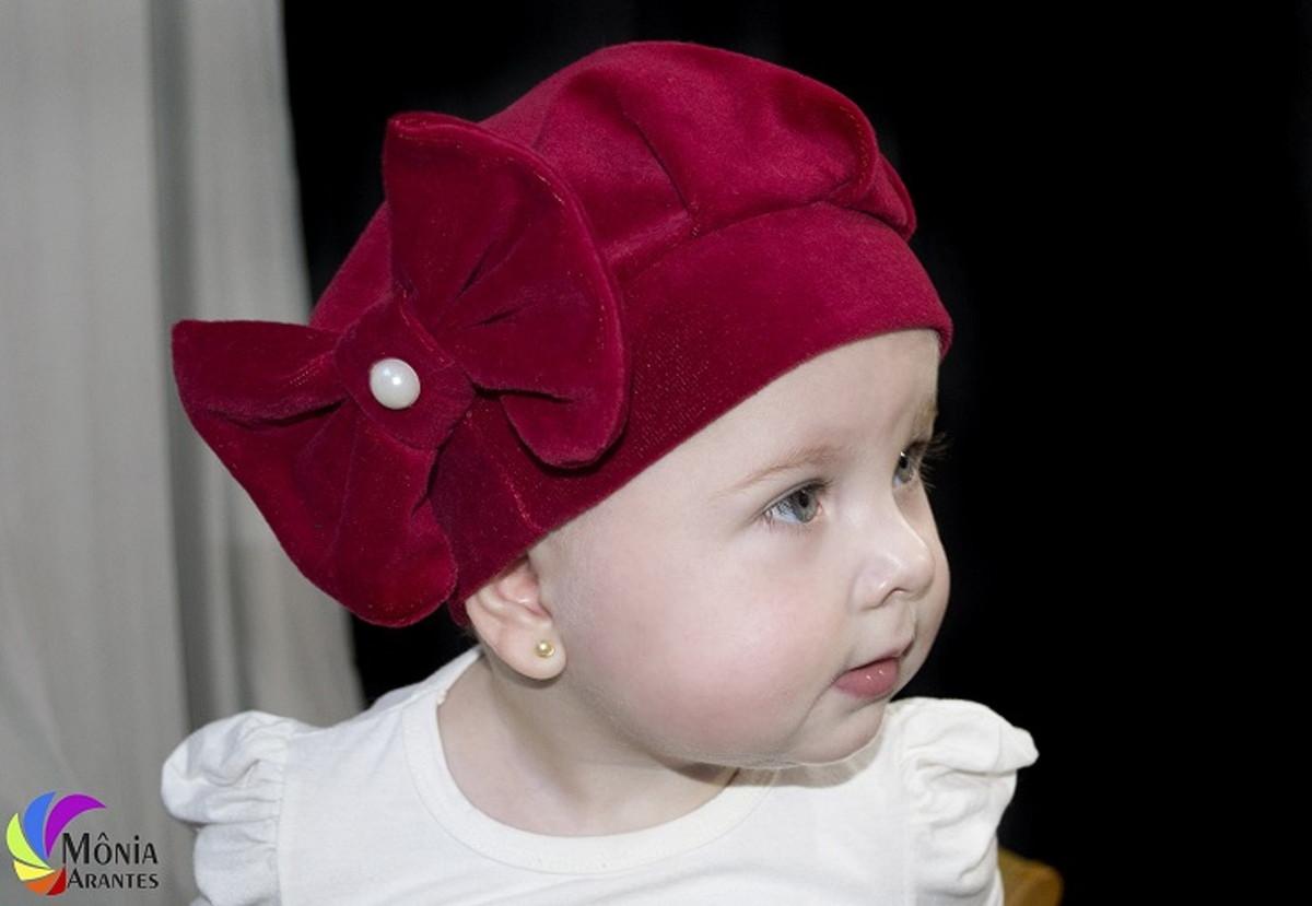 Boina Infantil Vermelha em Plush no Elo7  584b3e2067a