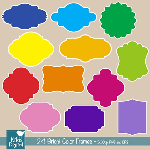 Etiquetas Digitais Basicas Coloridas No Elo7 Digikika 42b8a1