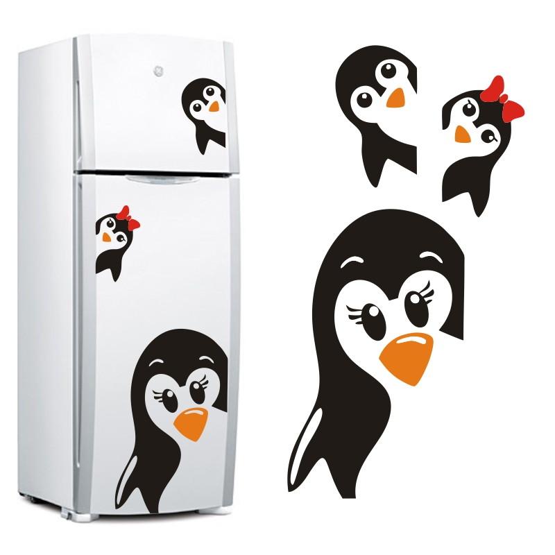 Adesivo Decorativo De Geladeira Casal Pinguim Cozinha ~ Adesivo Decorativo Geladeira Pinguim SuperTops Elo7