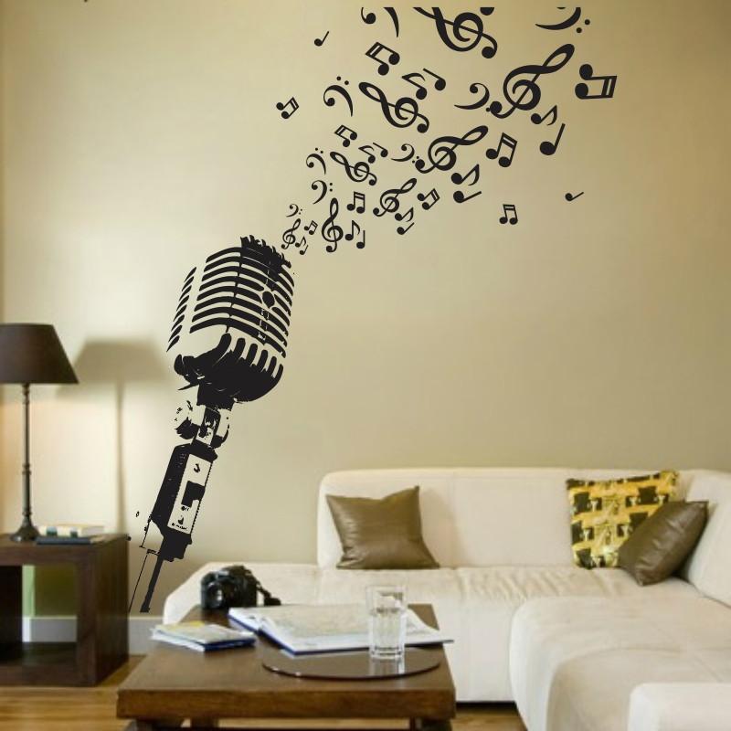 Artesanato Em Eva Como Fazer ~ Adesivo Decorativo Microfone Musical no Elo7 SuperTops (438731)