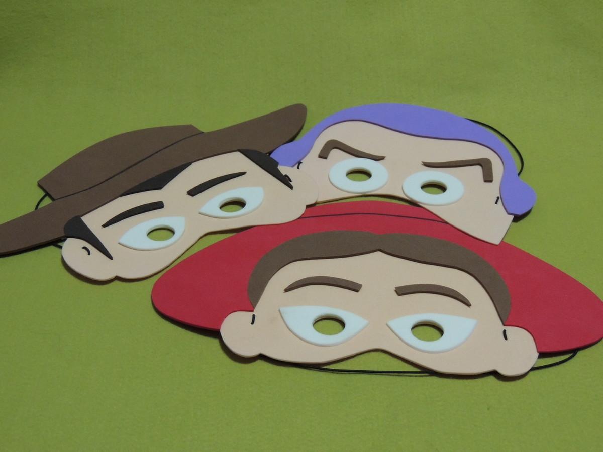 Máscaras Toy Story em EVA no Elo7  f58c72ec434