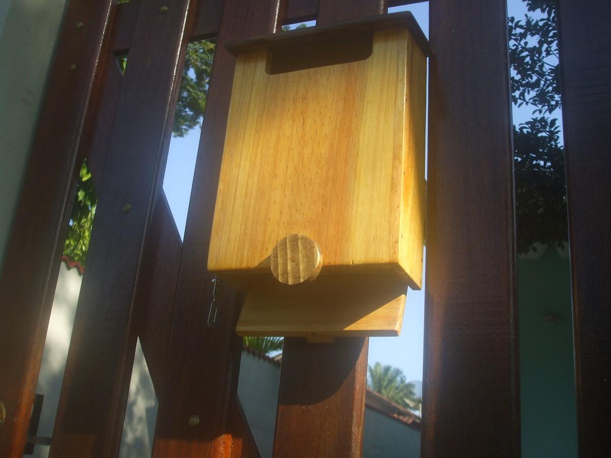 caixa de correio artesanal em madeira marcenaria boraceia caixa de  #AF821C 1200x900