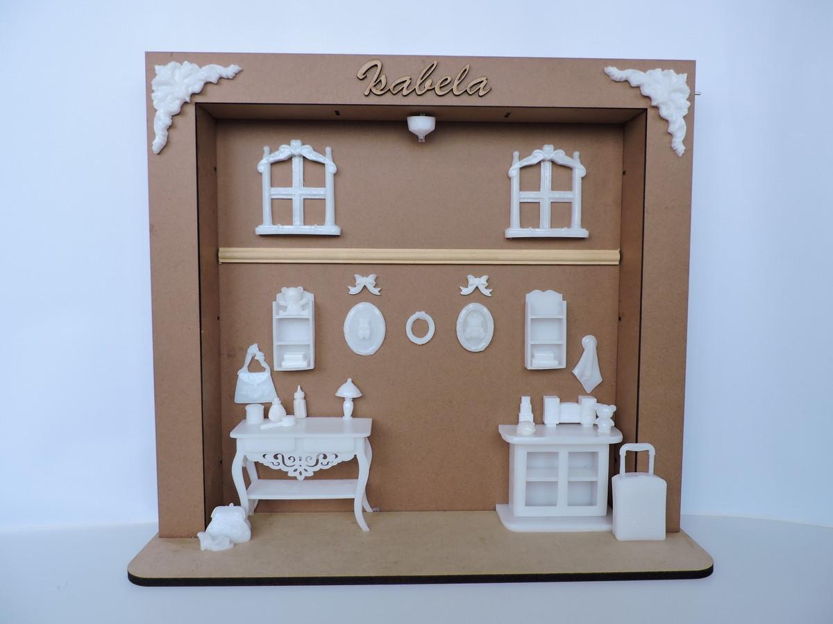 Artesanato Cobre Bolo Passo A Passo ~ Kit Porta de Maternidade Menina Renda no Elo7 Miniaturas de resina Tudo para arte (43E3FF)