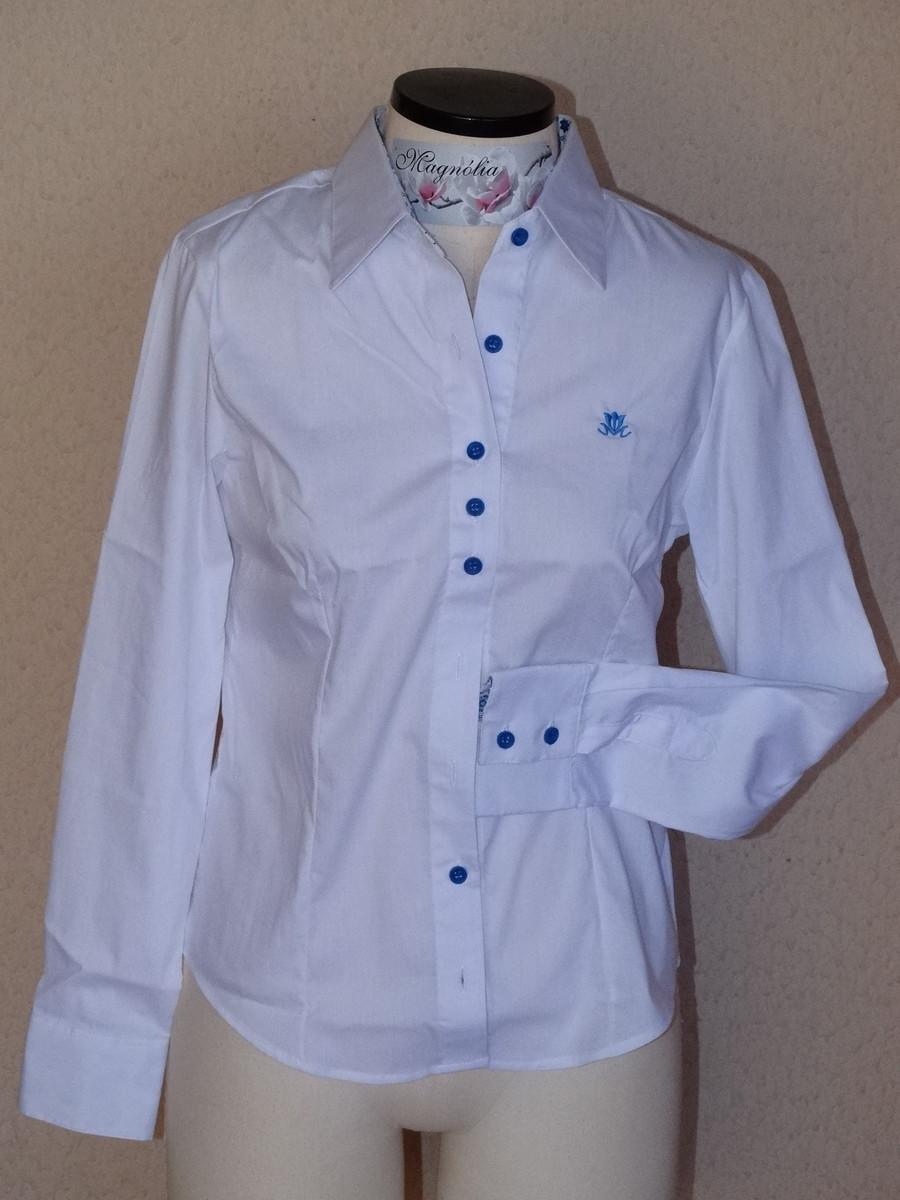 Camisa feminina manga longa Branca no Elo7  d05baced72d32