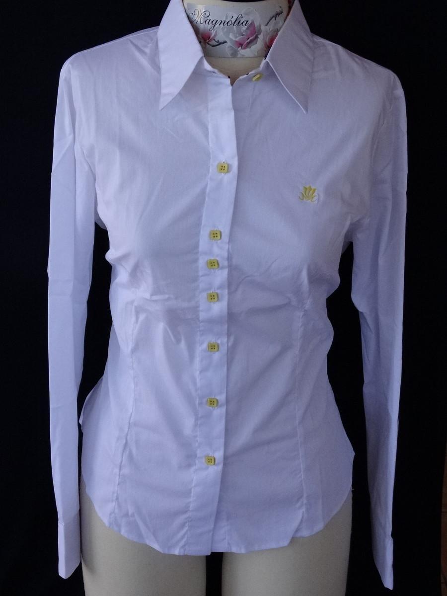 Camisa feminina manga longa Branco no Elo7  a7ad38e4f69b5