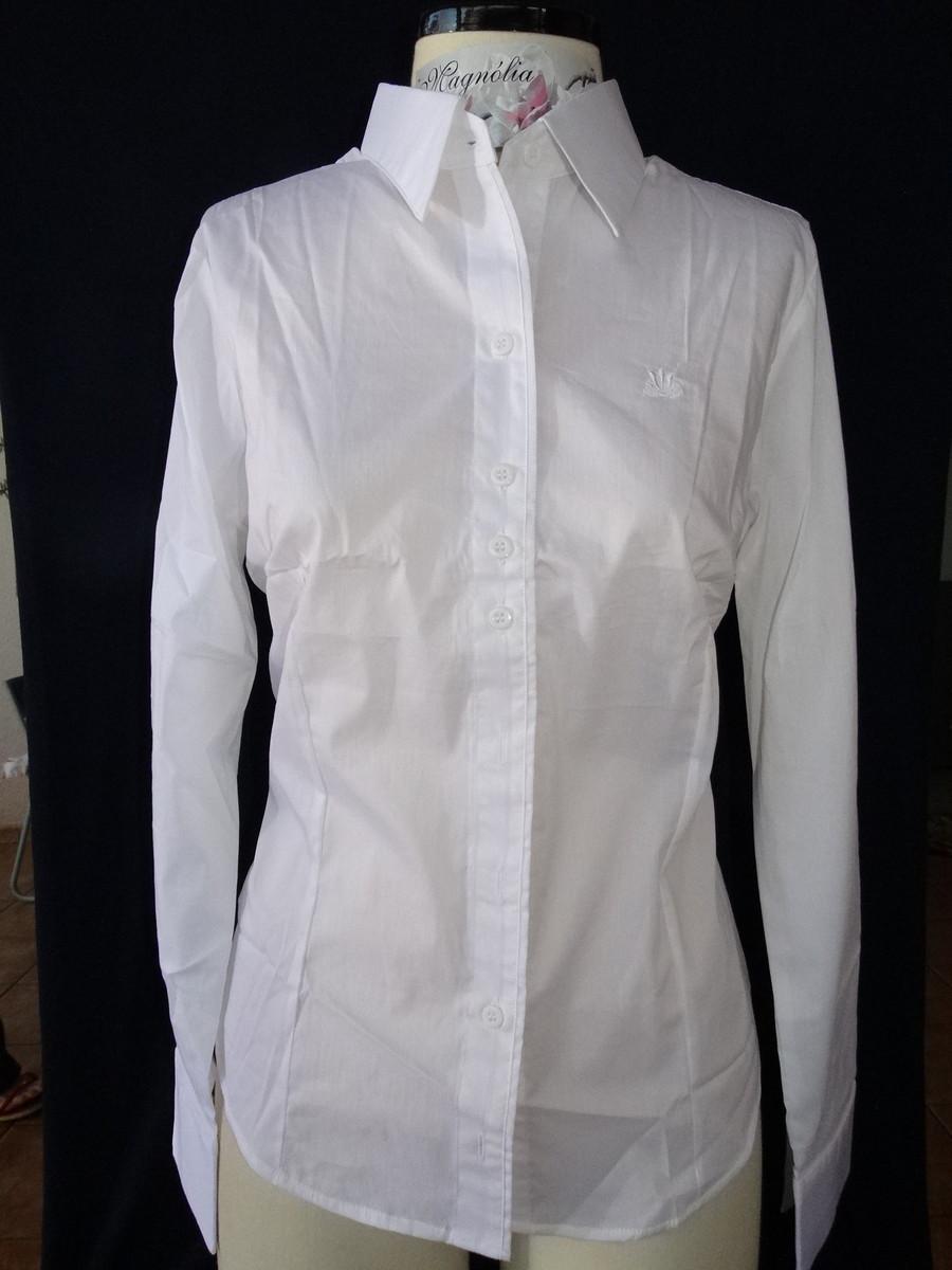 adef5910bfc4d9 Camisa feminina manga longa Branco Off