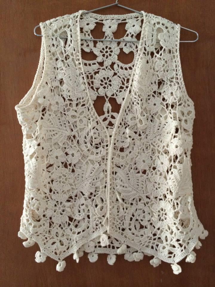 Colete Crochet Irland 234 S No Elo7 Drikys Arte Amp Crochet