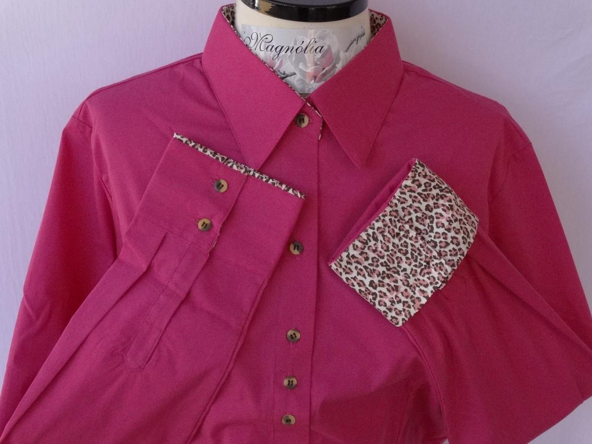 Camisa feminina manga longa Pink no Elo7  747fd957e3368