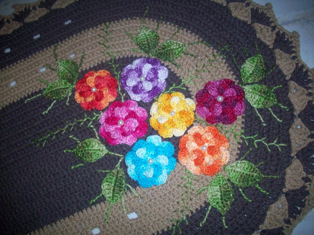 Tapete floral no elo7 ivonete artes em croche 45a137 for Tapete floral