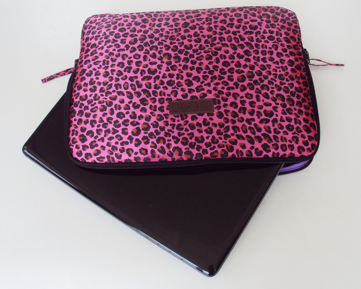 """Adesivo Para Box De Banheiro Jateado ~ Case Notebook 15"""" Estampa Oncinha Pink no Elo7 HazelnutHazel (E0489)"""