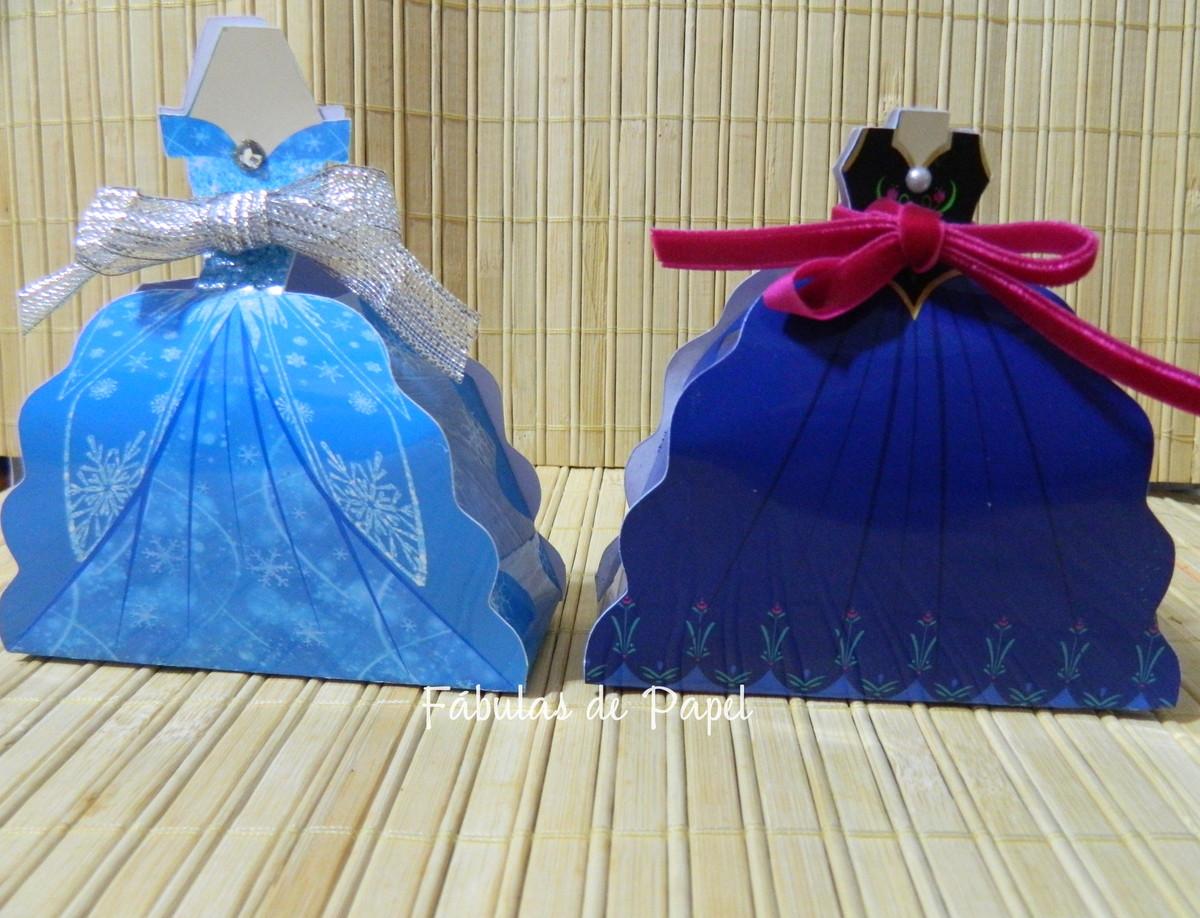 488164a33 Caixa vestido Frozen Elsa e Anna no Elo7 | Fábulas de Papel (43B892)