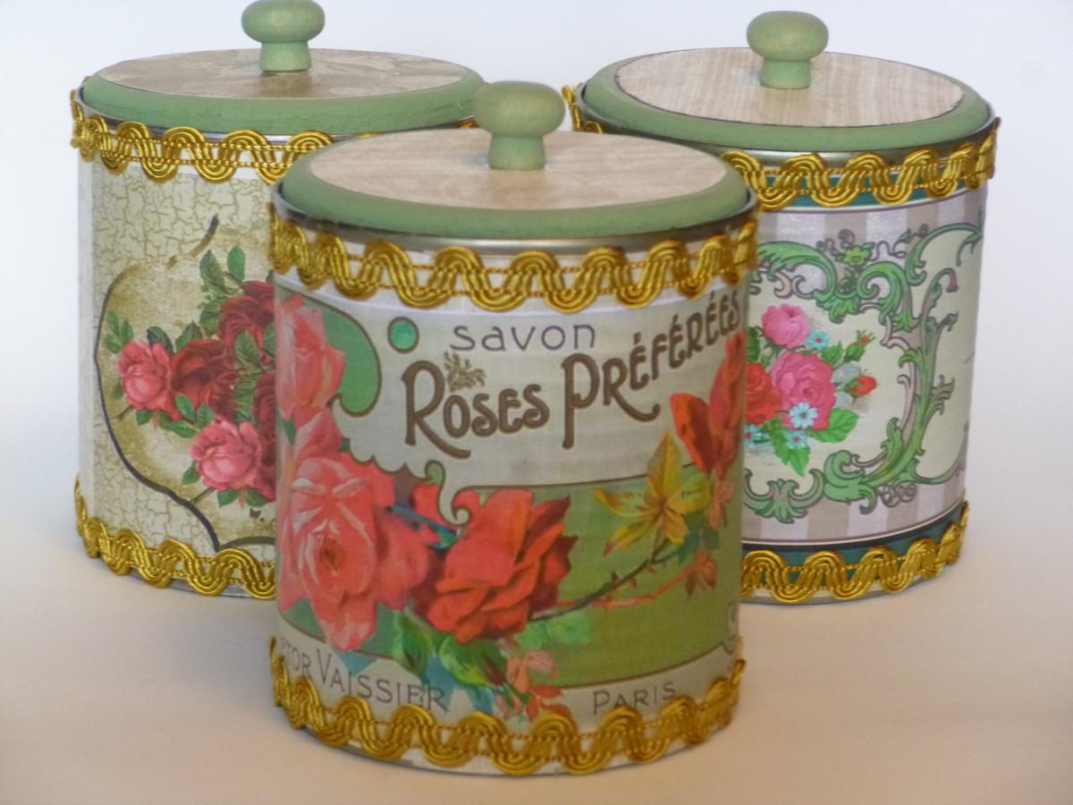 kit latas vintage para banheiro kit para banheiro #9A3E31 1200 900