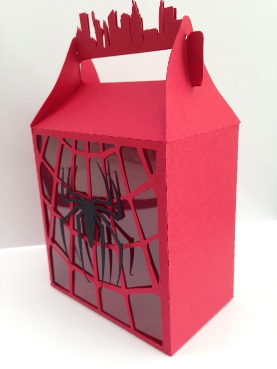 Adesivo Para Geladeira Retro ~ Caixa para lembrancinha Homem Aranha Papel com Afeto Elo7