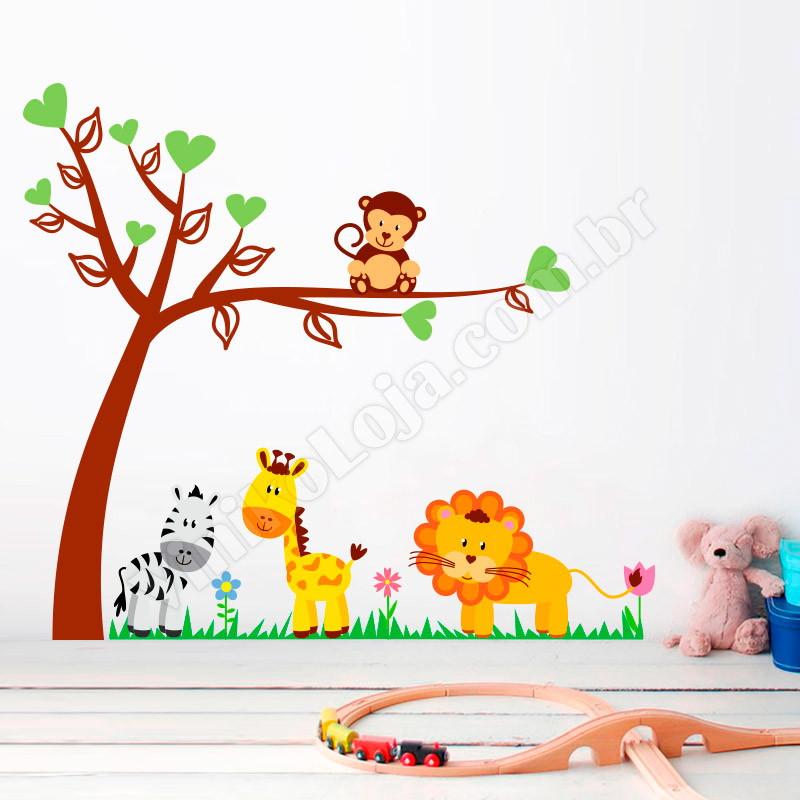 Adesivo Para Furo De Orelha ~ Adesivo Safari Infantil SFR 11 no Elo7 VINIKO LOJA (4680F6)