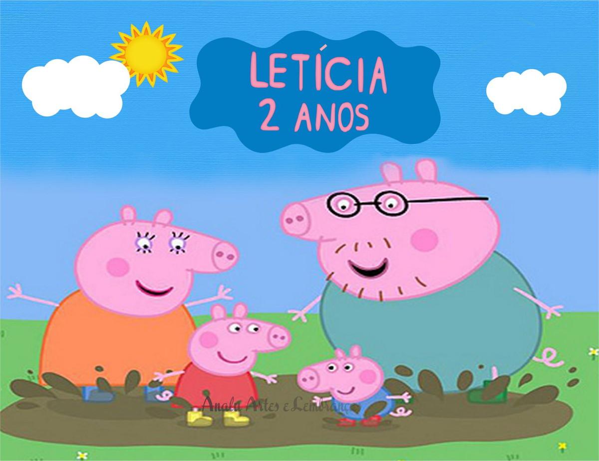 Rotulo Balde De Pipoca Familia Peppa Pig No Elo7 Analuarte 46921d