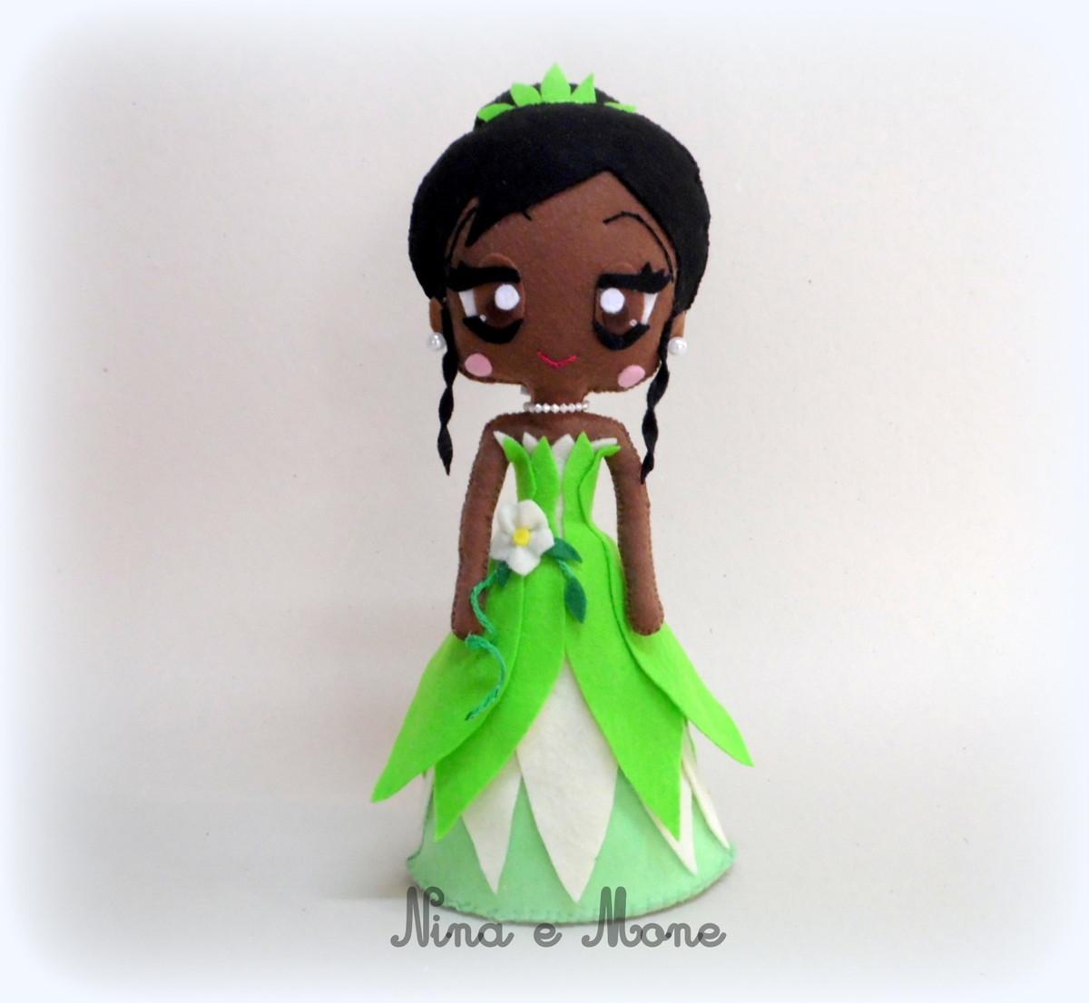 174f7b38d2ae2 Princesa Tiana em Feltro no Elo7   Nina e Mone (31F96B)