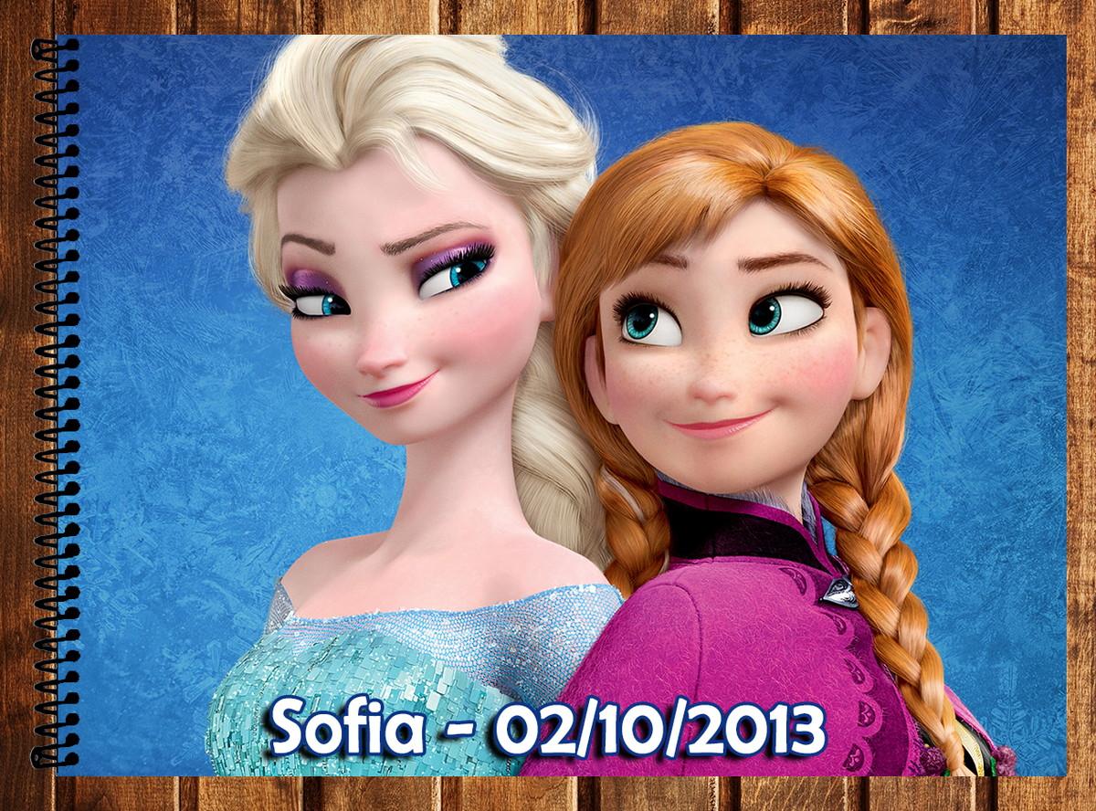 Caderno De Desenho Frozen No Elo7 Atelie Da Naty 46d4ac