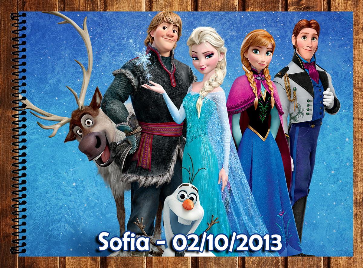 Caderno De Desenho Frozen No Elo7 Atelie Da Naty 46d4b2
