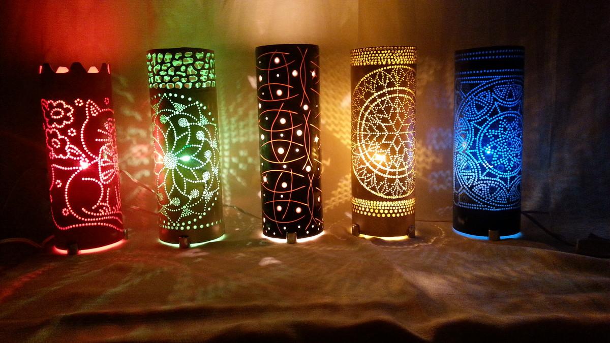 Luminárias de Mesa Vários modelos no Elo7 Ateli u00ea ARTE LUZ Luminárias em PVC& Artesanatos