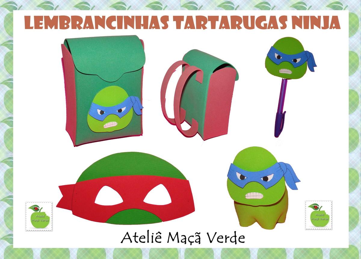 Molde Lembrancinhas Tartarugas Ninja No Elo7 Atelie Maca Verde