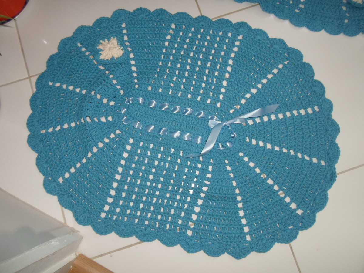 Artesanato De Croche Em Barbante ~ Jogo de banheiro de barbante em croche Artes da Vida 2
