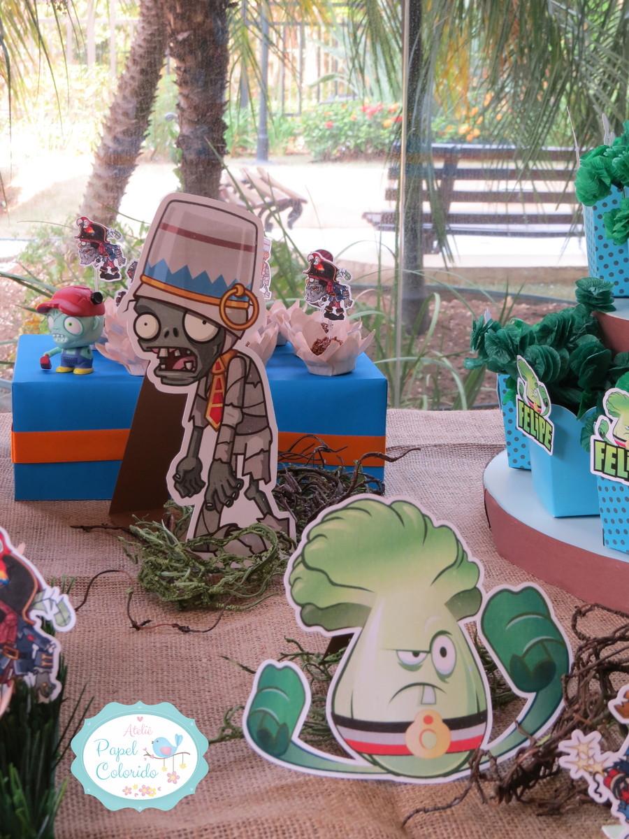 Enfeites De Zumbi ~ Kit festa Premium Plants vs Zombies no Elo7 Ateli u00ea Papel Colorido (4768F5)
