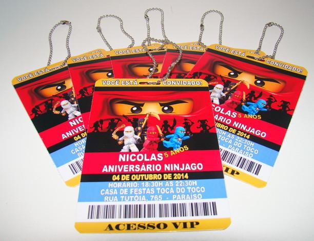 Convite Credencial Lego Ninjago No Elo7 Luciartselo7combr