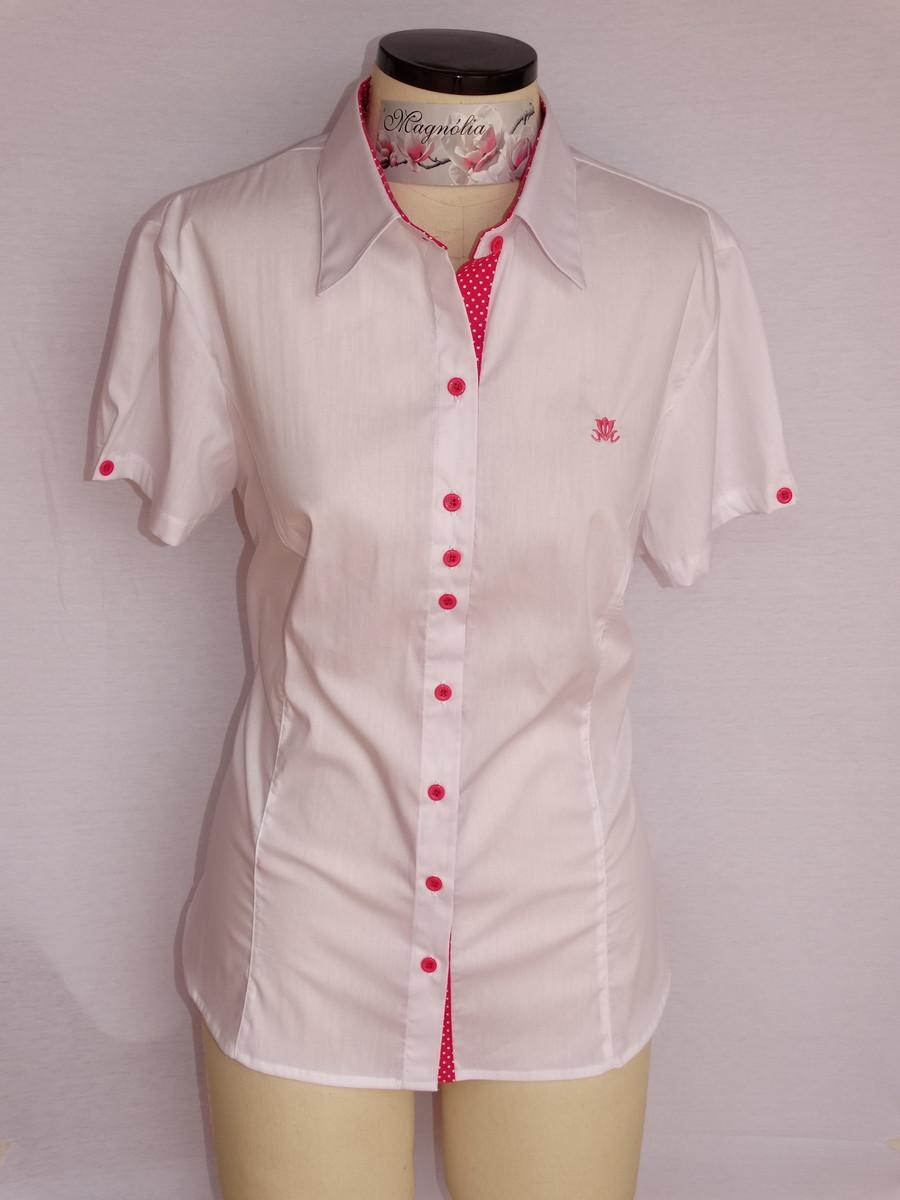 Camisa Feminina Manga Curta Branca no Elo7  6514d2da00914