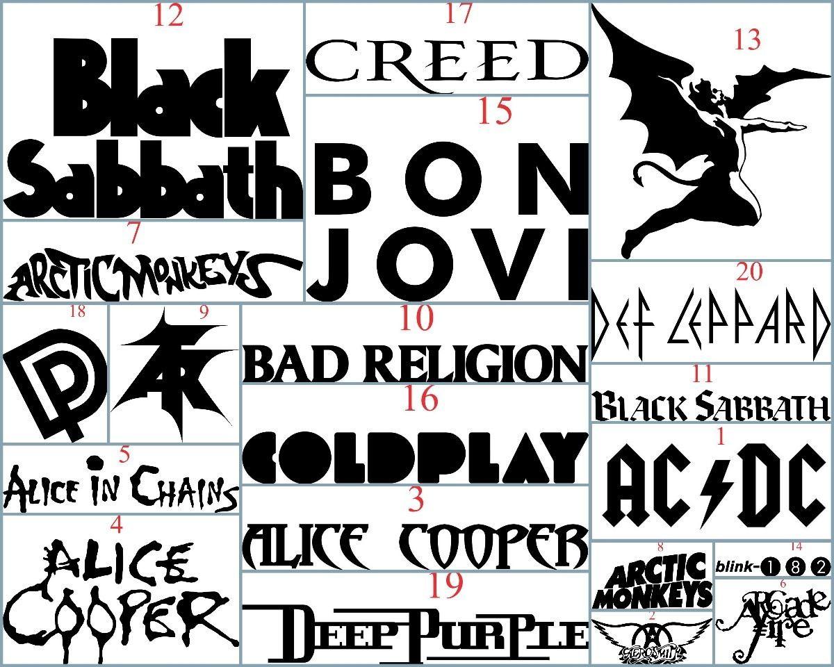 Adesivo bandas de rock heavy metal todas no elo7 queen - Bandas protectoras de paredes ...