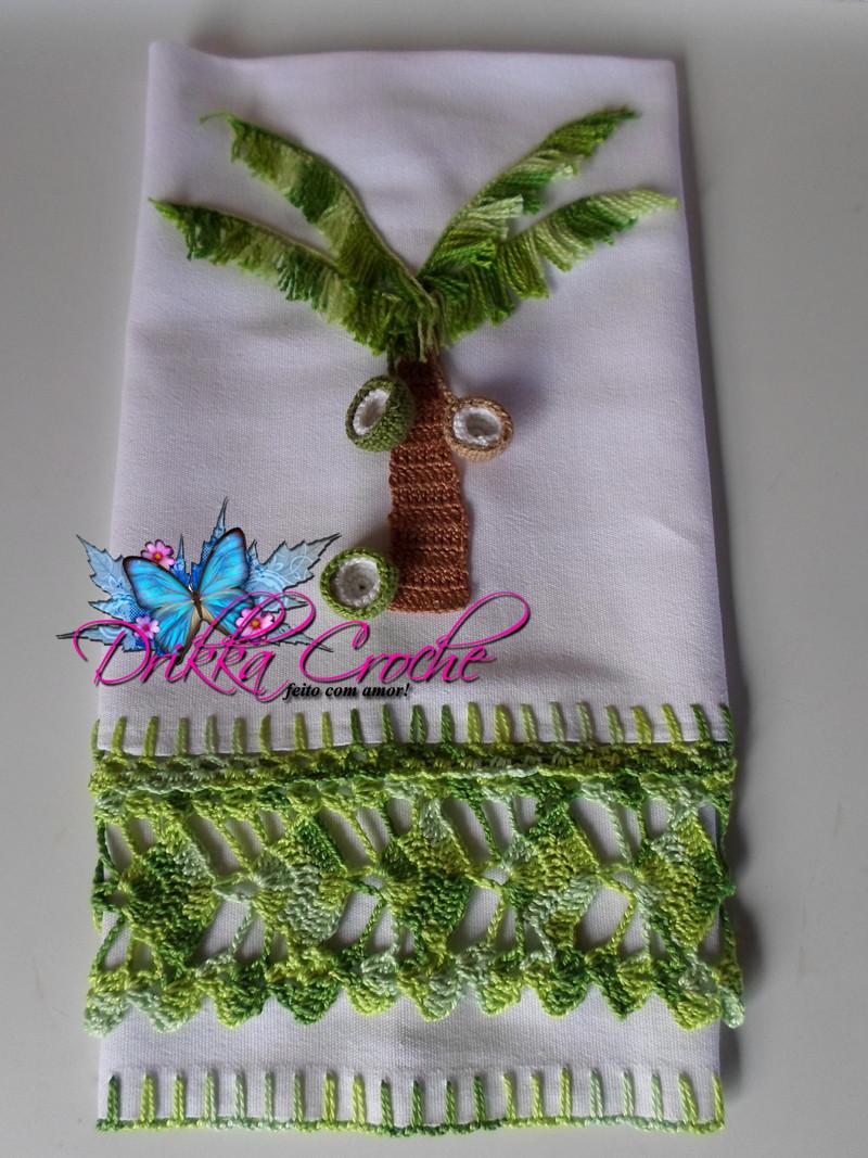 Qual O Correto Artesanato Ou Artesanato ~ Coqueiro em Croche no Elo7 Drikka Croche Artes (48E8DE)