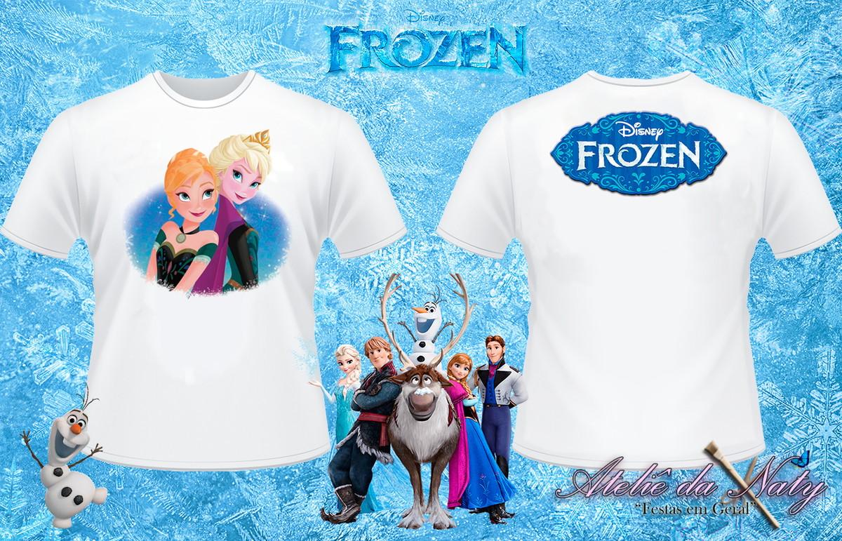 9d6cafc7d6 Camisa Personalizada - Frozen no Elo7