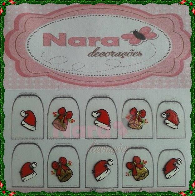 Adesivos De Natal Unhas ~ Adesivo de unha Nara Decorações Elo7