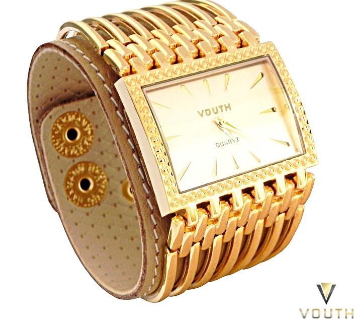 9317e3b8ad6 Relógio Bracelete Feminino Dourado no Elo7