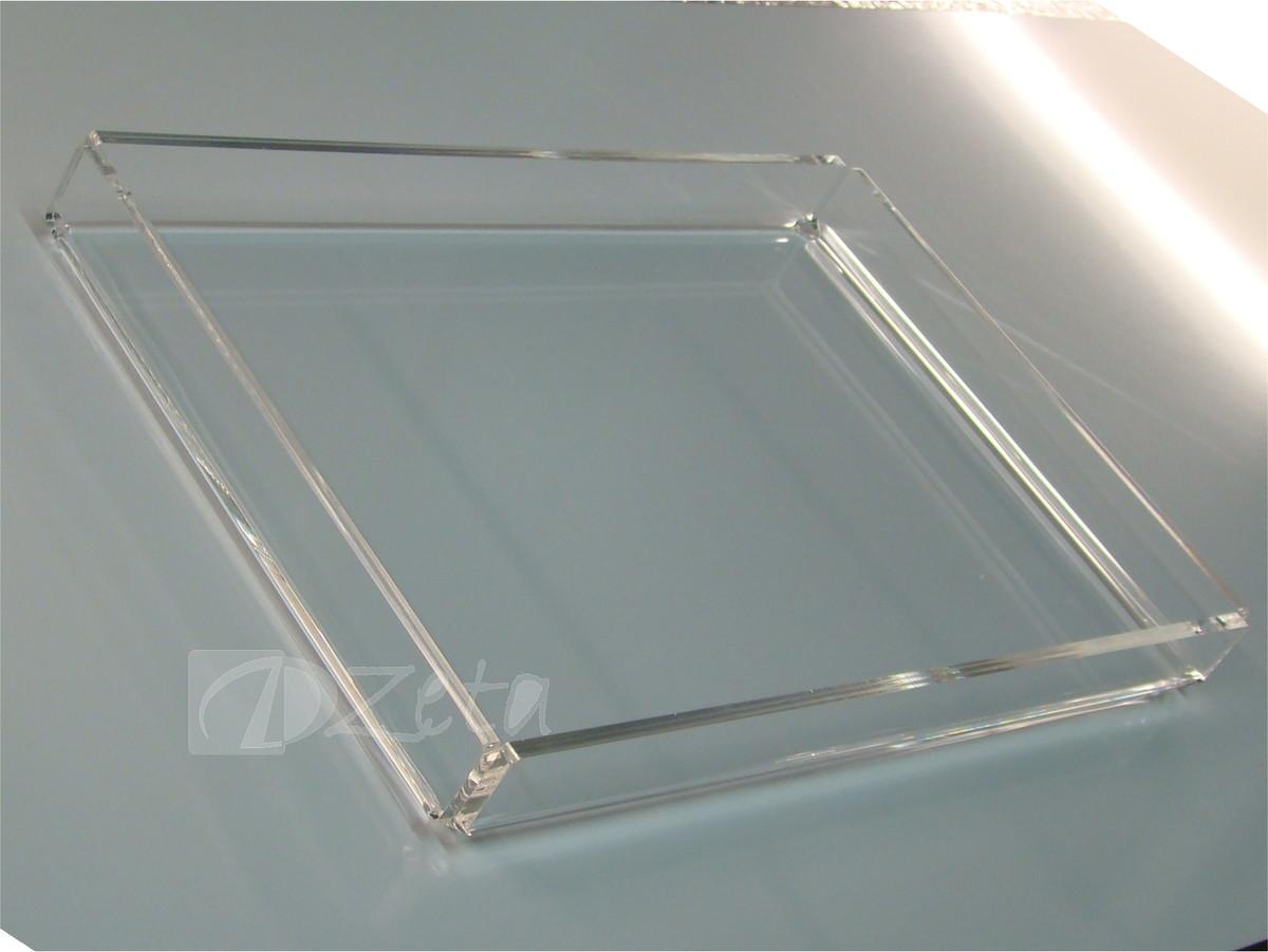 Bandeja sem al a acr lico cristal dzeta store elo7 - Bandejas de cristal ...