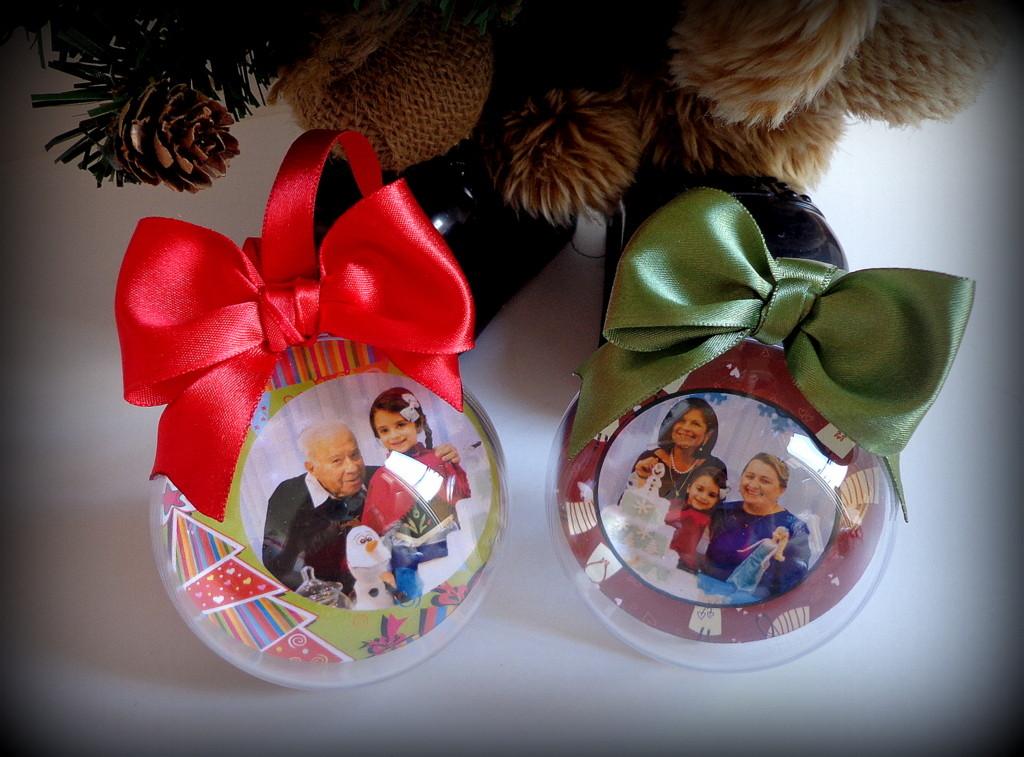 Kit bolas natal personalizadas c 06 unid encantarium - Bolas de cristal personalizadas ...