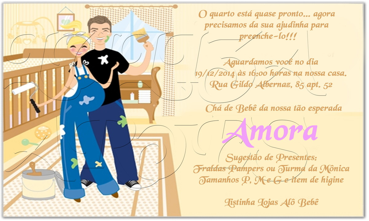 Arte Digital Convite Chá Bebê Reforma No Elo7 Luliza Artes E Doces
