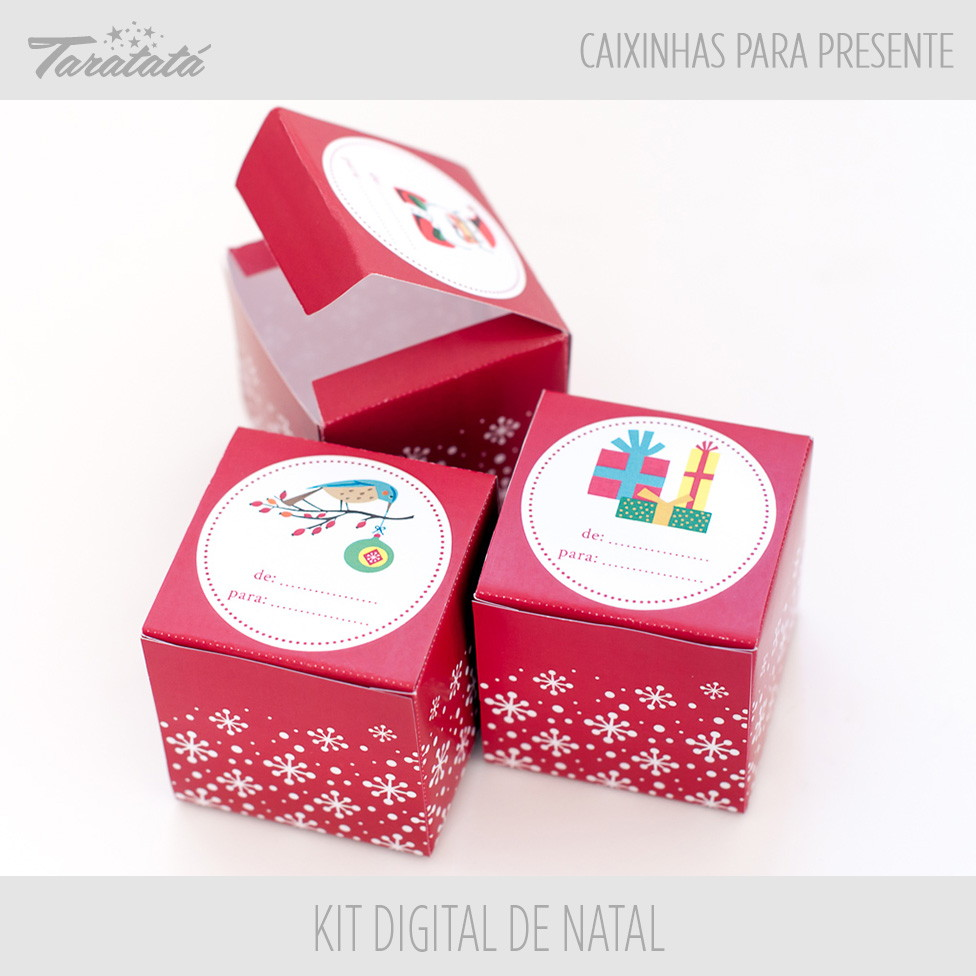 Caixinhas Para Presentes De Natal No Elo7 Taratata Papelaria