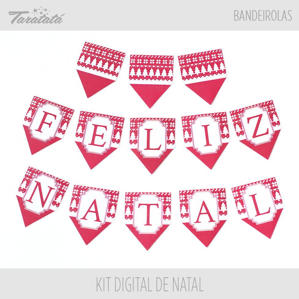 Aparador Sala De Jantar ~ Arte Digital para Bandeirolas de Natal no Elo7 Taratatá Papelaria Personalizada (4A1308)