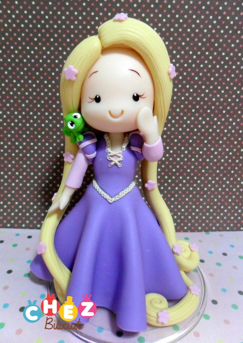 Topo De Bolo Rapunzel Enrolados Chez Biscuit Elo7