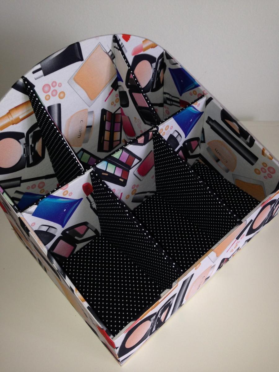 Fabuloso Caixa de Maquiagem no Elo7   Que Papelão!!! (4A66BF) HE97