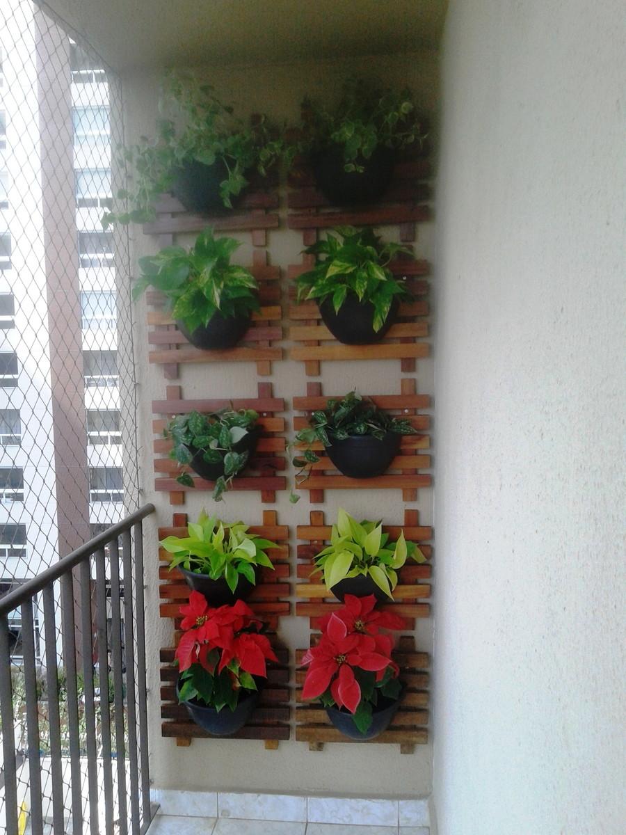 Jardim Vertical / Painel + Vaso Maia Casa e Jardim Elo7