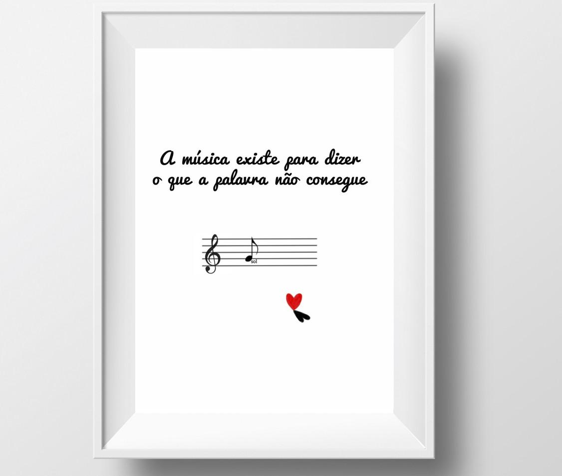 Poster decorativo tema musical no elo7 estefazevedo 3aff2d - Posters decorativos ...