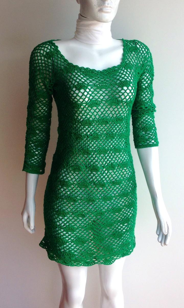 bbb6e6238 Vestido curto e meia manga em crochet no Elo7 | GUAPA ARTEIRA (4ABF02)