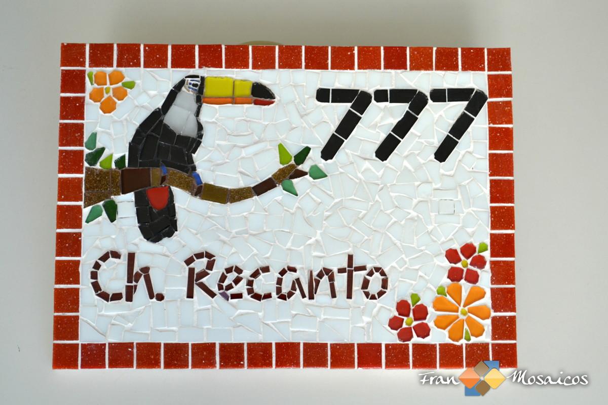 N mero residencial mosaico tucano ver fran mosaicos elo7 for Azulejo numero casa