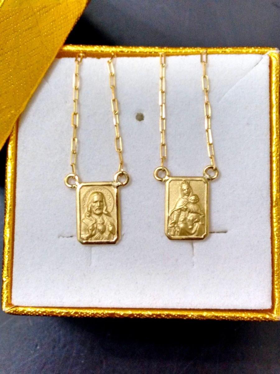 Escapulario de ouro 2,3 18k no Elo7   FELDENS JÓIAS (4B2A04) c29696e109