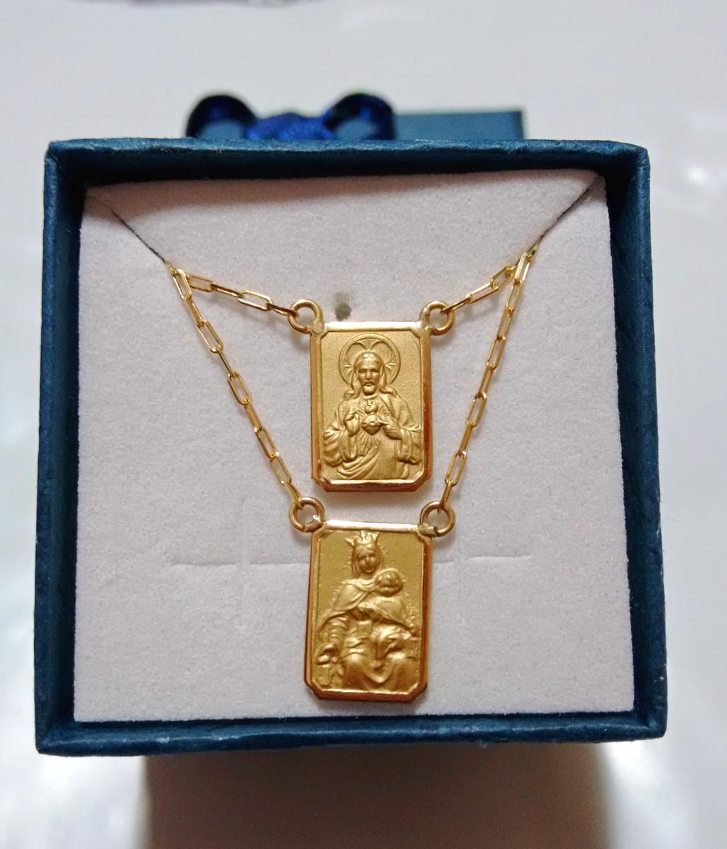 2f86bf9a62687 Escapulario de ouro 3gr 18k no Elo7