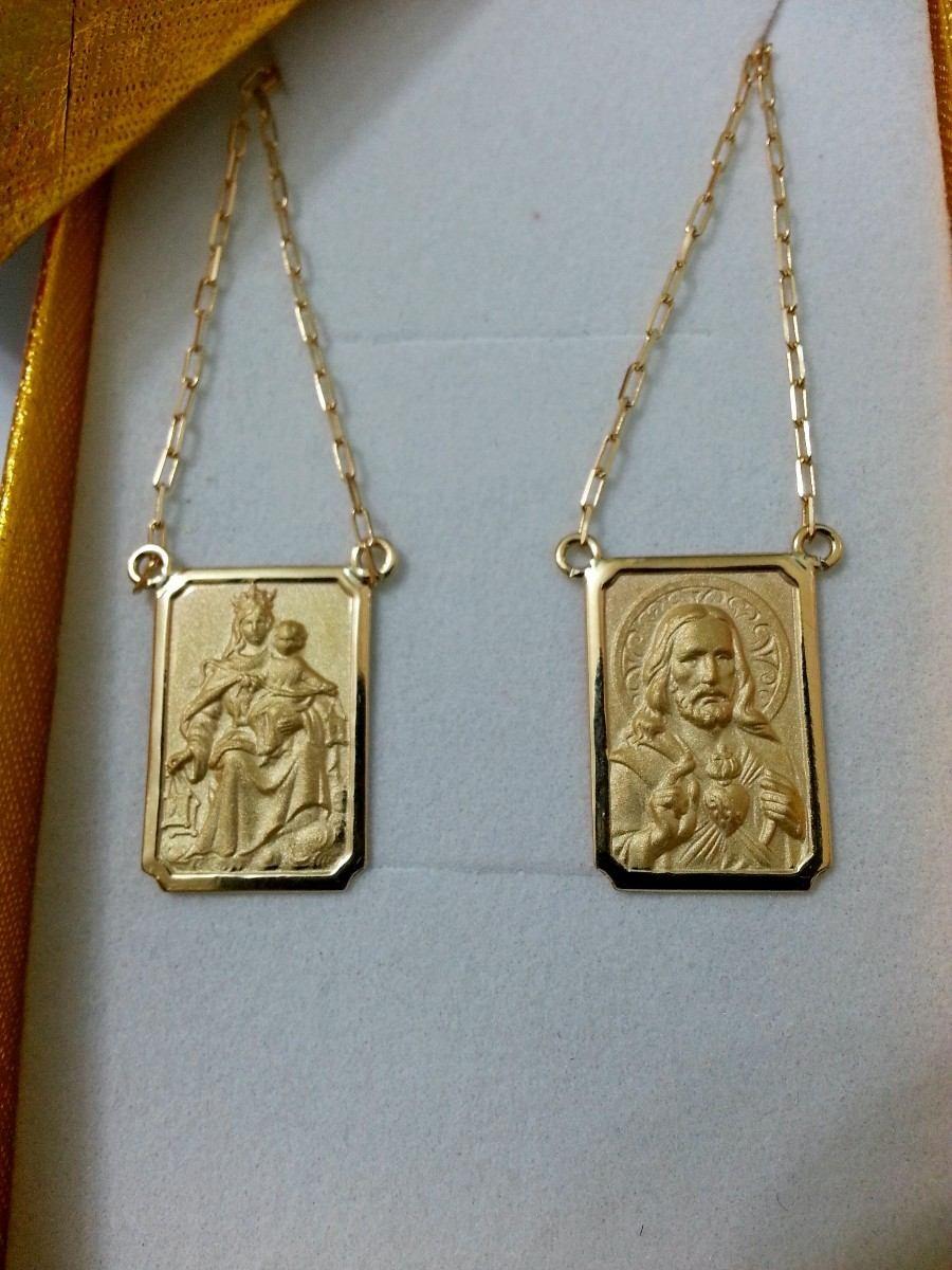 Escapulario de ouro 3,1 gr 18k no Elo7   FELDENS JÓIAS (4B2A7E) afad8eba0c