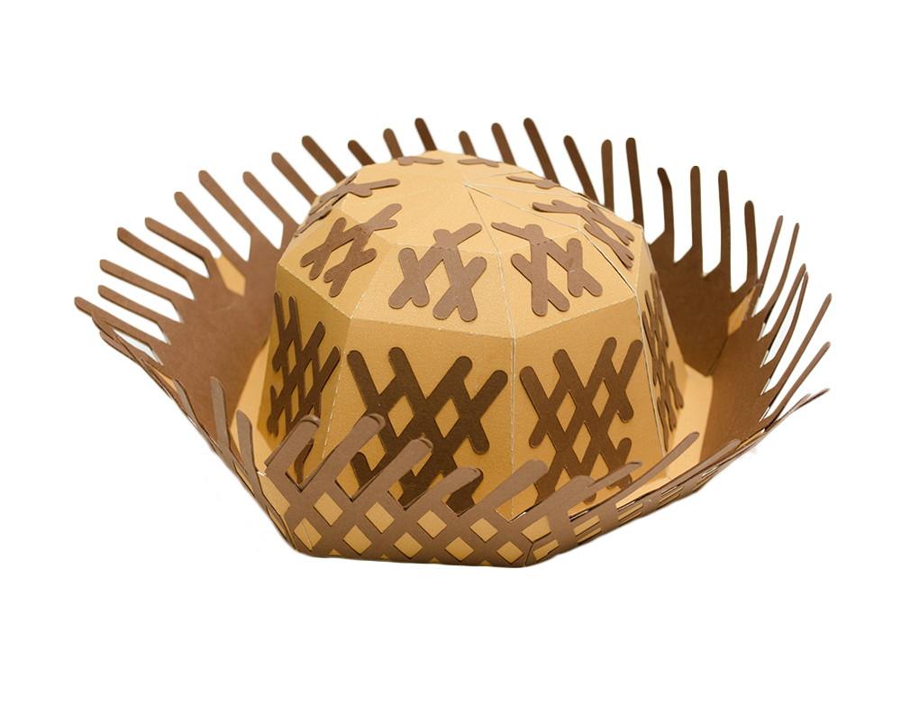 Chapéu de palha 3D decorativo no Elo7  122a380b6db