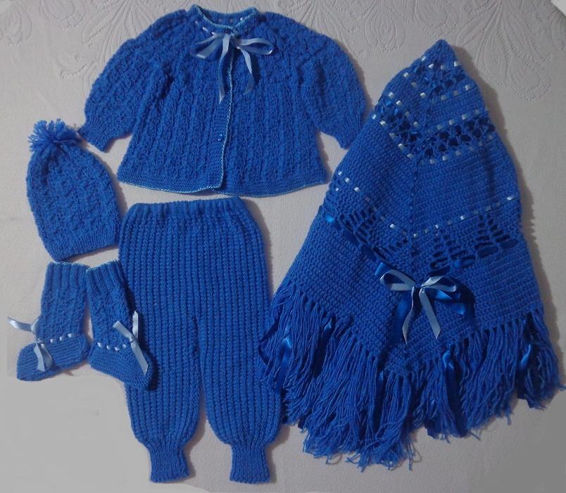 Conjunto em tricô á mão p bebê(3 mese) no Elo7   Roupas de bebê ... 331e8b238e