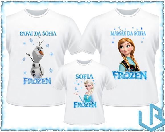 6fefba7baf Kit 5 Camisetas Personalizadas Frozen no Elo7